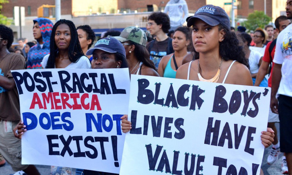 post racial america A new, 'post-racial' political era in america npr senior news analyst daniel schorr observes the ascendance of barack obama as a presidential candidate and wonders whether the us is entering a new, post-racial political era.